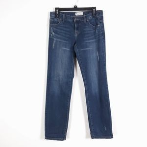 FREE PEOPLE Dark Wash Distressed Jeans Sz 26